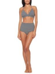 Women's Jessica Simpson Under The Sea Dot Halter Bikini Top