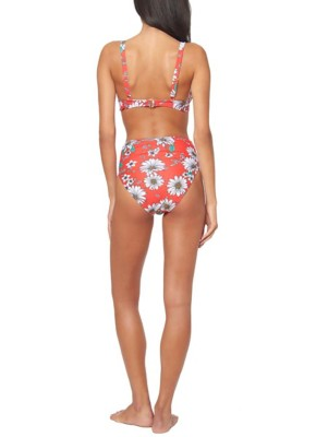 14cdf1f782b02 Tap to Zoom; Women's Jessica Simpson Oopsy Daisy Tie Front Underwire D Cup  Bikini Top