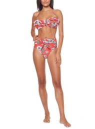 Women's Jessica Simpson Oopsy Daisy Ruffle Bandeau Bikini Top