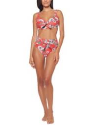 Women's Jessica Simpson Oopsy Daisy Hi-Waist Tie Front Bikini Bottom