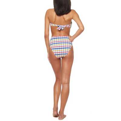 Women's Jessica Simpson Hi-Waisted Tie Front Bikini Bottom
