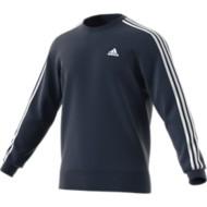 Men's adidas Essential 3-Stripe Fleece Crew Neck Sweatshirt