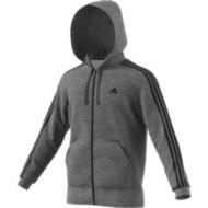 Men's adidas Essential 3-Stripe Fleece Full Zip Hoodie