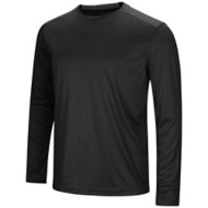Men's Colosseum Solid Rival Poly Long Sleeve T-Shirt