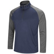 Men's Colosseum Heather Rival Poly 1/4 Zip Long Sleeve