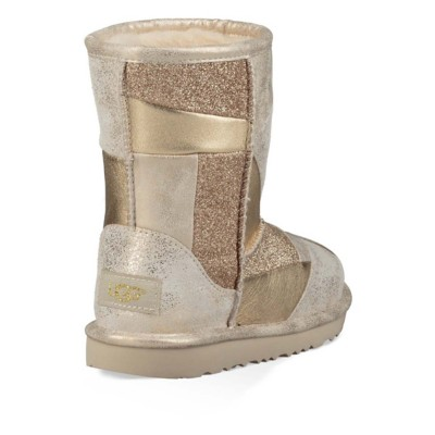 1c1817622e Tap to Zoom  Grade School Girl s UGG Classic Short II Patchwork Boots