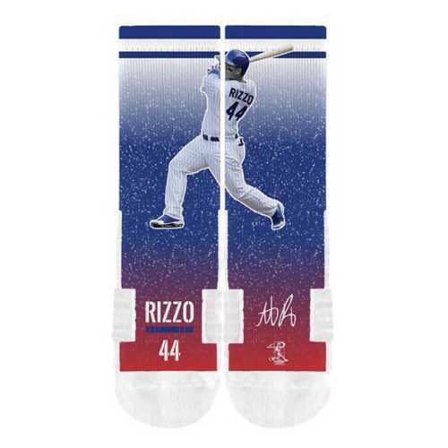 Strideline Socks Chicago Cubs Anthony Rizzo Crew Socks
