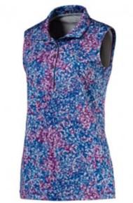 Women's Puma Floral Sleeveless Golf Polo