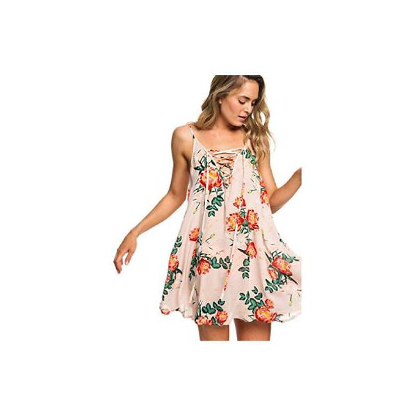 cdaa8ae1e6 Cloud Pink Garden Lily Tap to Zoom; Women's Roxy Softly Love Floral Strappy  Swim Dress Cover-Up