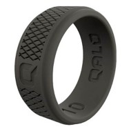 Men's Qalo Crosshatch Silicone Ring