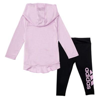 Infant Girls' adidas Hooded Melange Set