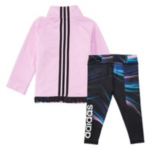 Infant Girls' adidas Lilac Tricot Jacket and Tight Set