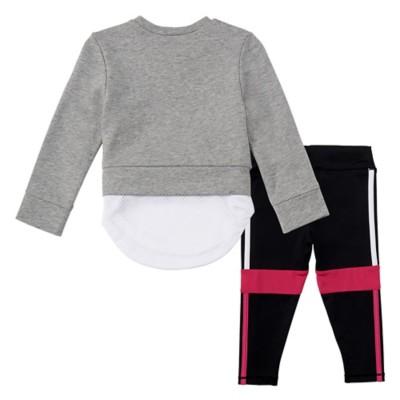 Infant Girls' adidas Layered Dual Sweatshirt Set