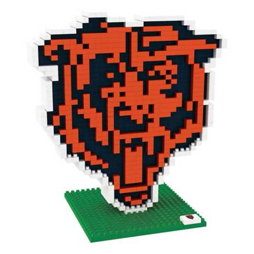 Forever Collectibles Chicago Bears BRXLZ Logo 3D Puzzle