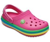 Preschool Girls' Crocs Crocband Rainbow Band Clog