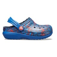 Toddler Crocs Classic Graphic Lined Clogs
