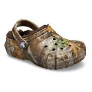 Grade School Crocs Classic Realtree Edge lined Clogs