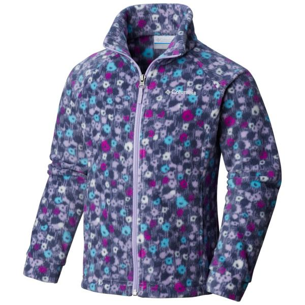 bcb6b8b3 ... Girls' Columbia Benton Springs II Printed Fleece Jacket Tap to Zoom;  Nocturnal Floral Tap to Zoom; Soft Violet Floral