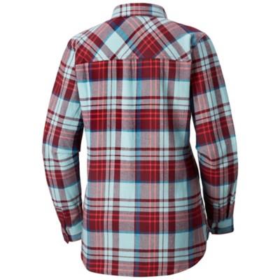 Women's Columbia Plus Size Simply Put II Flannel Long Sleeve Shirt