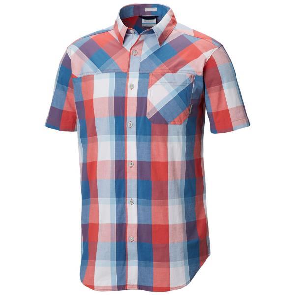 6b218eab039 ... Men's Columbia Thompson Hill Yarn Dye Short Sleeve Shirt Tap to Zoom;  Sunset Red Check