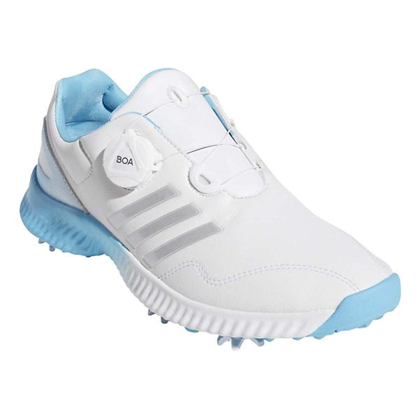 51c8f25a4 ... Women s adidas Response Bounce BOA Golf Shoes Tap to Zoom  Cloud White  Silver Metallic Bright Cyan