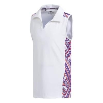 043793649919f Tap to Zoom  Grade School Girls  adidas Novelty Sleeveless Polo