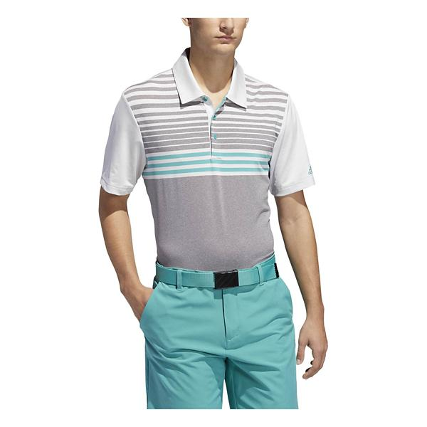 7bc17bba ... Men's adidas Ultimate 3 Stripe Heather Gradient Polo Tap to Zoom; Grey /White