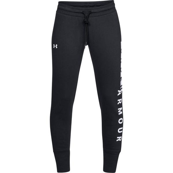 31ca4d04d62 ... Women s Under Armour Cotton Fleece Wordmark Pant Tap to Zoom   Black White
