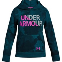 Youth Girls' Under Armour Rival Fleece Wordmark Hoodie