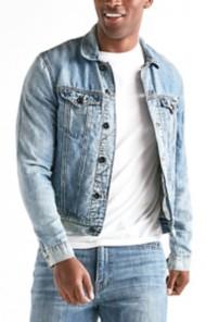 Men's Lucky Brand Lightweight Linen Denim Trucker Jacket