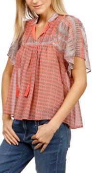 Women's Lucky Brand Peasant Short Sleeve Shirt