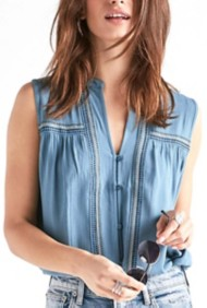 Women's Lucky Brand Embroidered Tank