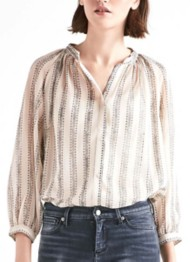 Women's Lucky Brand Geo Stripe Long Sleeve Shirt