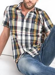 Men's Lucky Brand Vivid Seersucker Workwear Short Sleeve Shirt
