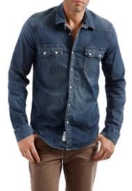 Men's Lucky Brand Sawtooth Denim Western Long Sleeve Shirt