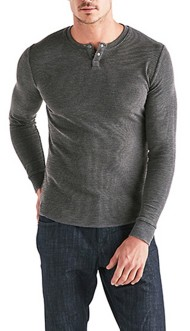 Men's Lucky Brand Venice Burnout Long Sleeve Thermal Henley