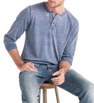 Men's Lucky Brand Burnout Long Sleeve Henley