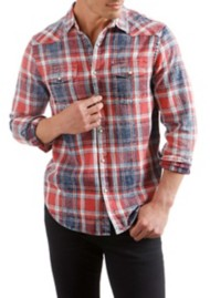 Men's Lucky Brand Long Sleeve Indigo Western Long Sleeve Shirt
