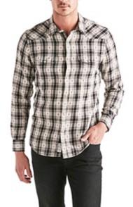 Men's Lucky Brand Long Sleeve Dobby Western Long Sleeve Shirt