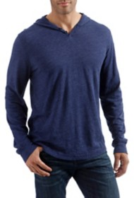 Men's Lucky Brand Linen Long Sleeve Hooded Henley