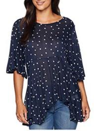 Women's Lucky Brand Printed Flutter Shirt