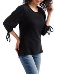 Women's Lucky Brand Balloon Tie 3/4 Sleeve Shirt