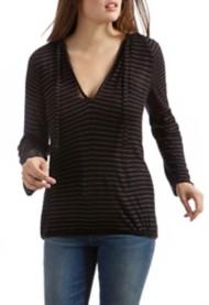 Women's Lucky Brand Drop Needle Stripe Long Sleeve Shirt