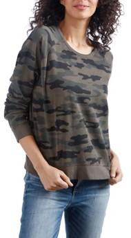 Women's Lucky Brand Camo Pullover Long Sleeve Shirt