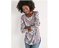 Women's Lucky Brand Lucky Tapestry Short Sleeve Shirt