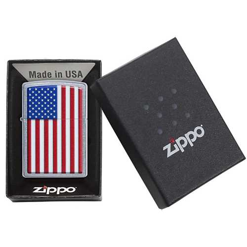 Zippo Patriotic Design Chrome Lighter