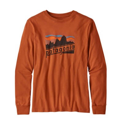 Grade School Boys Patagonia Long Sleeve Graphic Organic T-Shirt