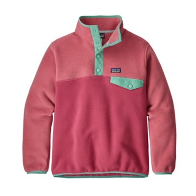 Grade School Girls' Patagonia Lightweight Synch Snap-T Pullover