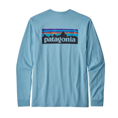 Men's Patagonia Long Sleeve P-6 Logo Responsibili-Tee