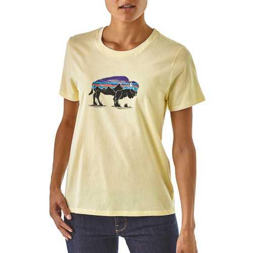 Women's Patagonia Fitz Roy Bison Organic Short Sleeve Crew T-Shirt